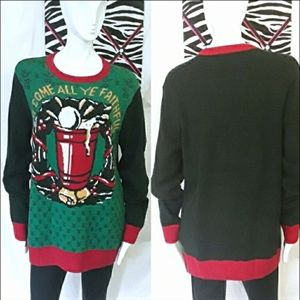 Ugly Christmas Sweater green and red sweater